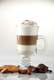 Hot and tasty cup of coffee Royalty Free Stock Image