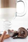 Hot and tasty cup of coffee Royalty Free Stock Images
