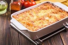 Hot tasty lasagna Royalty Free Stock Photos