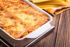 Hot tasty lasagna Stock Photo