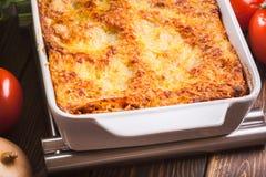 Hot tasty lasagna Royalty Free Stock Photography
