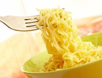 Hot and tasty noodles Stock Photos
