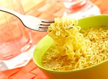 Hot and tasty noodles Royalty Free Stock Photo