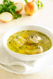 Hot and tasty soup of fish, sturgeon Royalty Free Stock Image