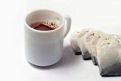 Hot Tea. And tea bags Royalty Free Stock Images