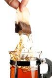 Hot tea bag Royalty Free Stock Image