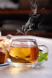 Hot tea for breakfast Royalty Free Stock Photography