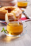 Hot tea for breakfast Royalty Free Stock Photo