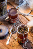 Hot tea brewed in the old style Royalty Free Stock Photos
