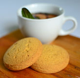 Hot tea with cakes. Royalty Free Stock Photography