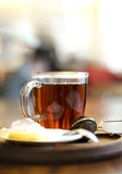 Hot tea for cold day Royalty Free Stock Photography