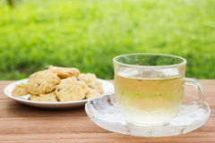Hot tea and cookies. Stock Photography