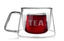 Hot tea cup isolated Royalty Free Stock Photography