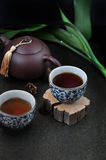 Hot Tea Cup on piece of Wooden Royalty Free Stock Photo