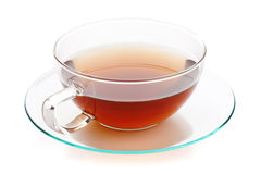 Hot tea in glass cup Royalty Free Stock Photography