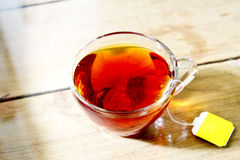 Hot tea in glass Stock Images