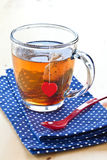 Hot tea in a glass mug Royalty Free Stock Photography