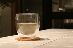 Hot Tea in a Glass Stock Photography