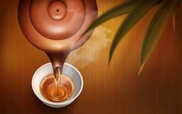 Hot tea illustration royalty free illustration