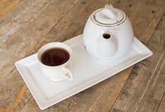 Hot tea and jar Stock Photography