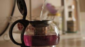 Hot tea. 4K UHD. stock video