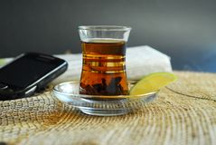 Hot tea with lemon Stock Photography