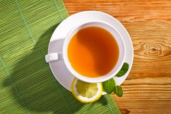 Hot tea and lemon Royalty Free Stock Photo