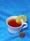 Hot tea with lemon Royalty Free Stock Photo
