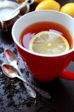 Hot tea with lemon Stock Photography