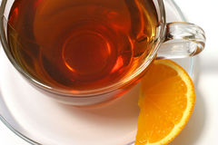 Hot tea lemon slice Stock Photography
