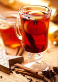 Hot tea with lemon and spices Stock Images