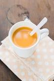 Hot tea with milk Royalty Free Stock Photos