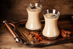 Hot tea with milk Stock Photography