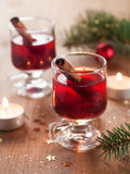 Hot tea or mulled wine Stock Images