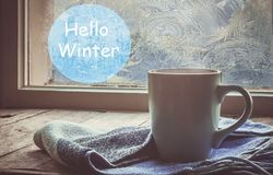 Hot tea in the pot near the window. selective focus. stock image
