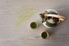 Hot tea pot Stock Photos