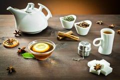 Hot tea and spice aromas Stock Photography