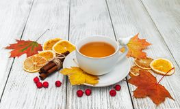 Hot tea with spices Stock Photos