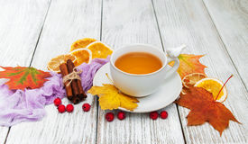 Hot tea with spices Royalty Free Stock Photo