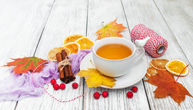 Hot tea with spices Stock Photo