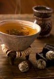 Hot tea still-life. Hot tea in piala still-life royalty free stock photo