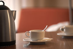 Hot tea on a table in the morning Royalty Free Stock Photos