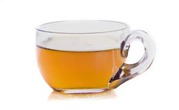 Hot tea on white stock images