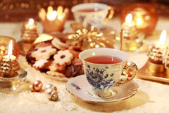 Hot Tea With Sweet Cookies Royalty Free Stock Image
