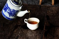 Tea hot chinese sloping old stock photography