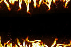 Hot temperature fire frame background. Royalty Free Stock Image