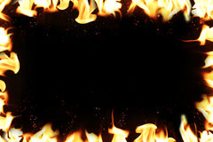 Hot temperature fire frame background. Hot temperature fire frame background Royalty Free Stock Photos