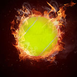 Hot tennis ball Royalty Free Stock Photos