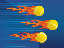 Hot tennis balls. Hot tennis balls, concept, illustration Royalty Free Stock Photography