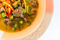 Hot Thai curry. With beef Stock Photos